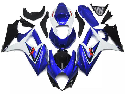 Blue, White & Black 2007-2008 Suzuki GSX-R 1000 K7 Fairings