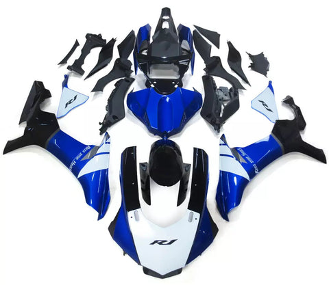 Blue, White & Black 2015-2017 Yamaha YZF-R1 - Wicked Fairings