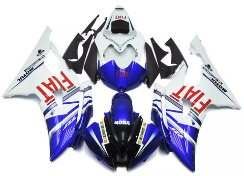 Blue & White FIAT 2008-2016 Yamaha YZF-R6 Fairings