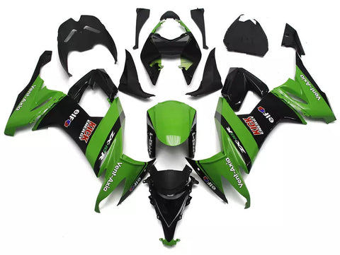 Green & Black 2008-2010 Kawasaki ZX-10R - Wicked Fairings
