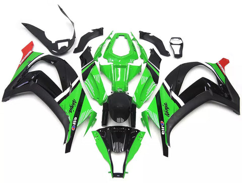 Green & Black 2011-2015 Kawasaki ZX-10R - Wicked Fairings