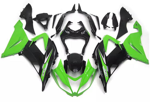 Green & Black 2013-2017 Kawasaki ZX-6R - Wicked Fairings