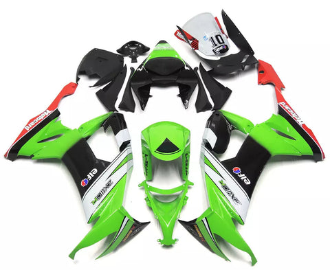 Green & Black Elf 2008-2010 Kawasaki ZX-10R - Wicked Fairings