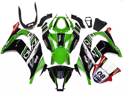 Green & Black Elf 2011-2015 Kawasaki ZX-10R - Wicked Fairings