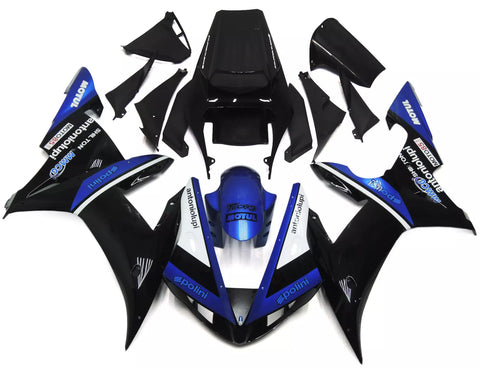 Matte Black & Gloss Blue 2002-2003 Yamaha YZF-R1 - Wicked Fairings