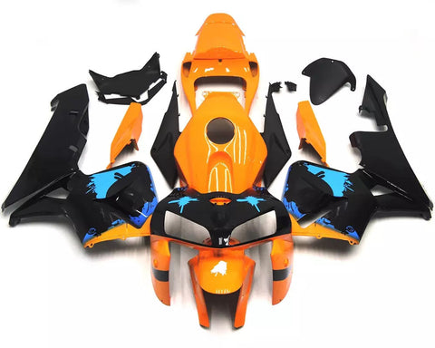 Orange, Black & Blue 2005-2006 Honda CBR600RR Fairings