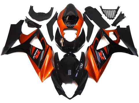 Orange & Gloss Black 2007-2008 Suzuki GSX-R 1000 K7 Fairings