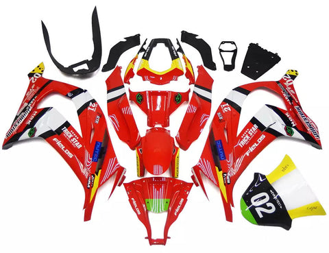 Red 2011-2015 Kawasaki ZX-10R Fairings