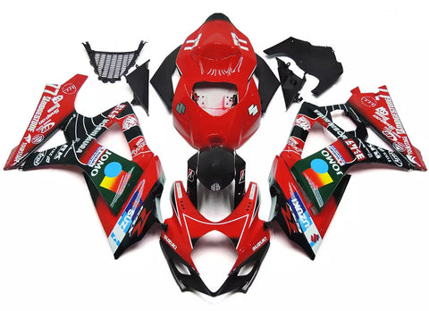Red & Black 2007-2008 Suzuki GSX-R 1000 K7 Fairings