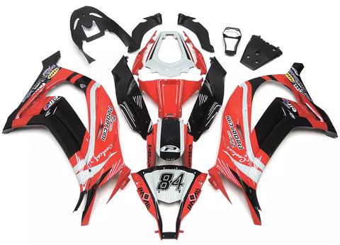 Red & Black 2011-2015 Kawasaki ZX-10R Fairings