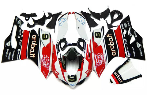 Red & Black 2012-2013 Ducati 899 / 1199 Fairings