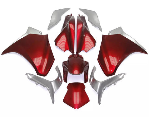 Red & Silver 2010-2013 Honda VFR1200 Fairings