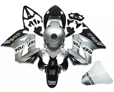 Silver & Black 2002-2013 Honda VFR800 Fairings