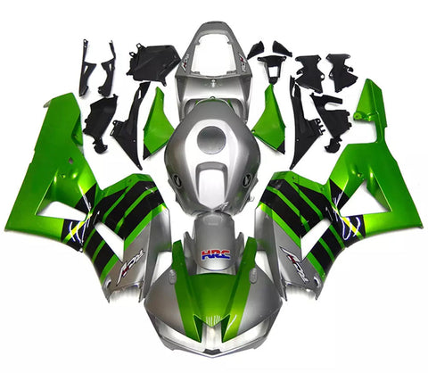 Silver, Green & Black 2013-2017 Honda CBR600RR Fairings