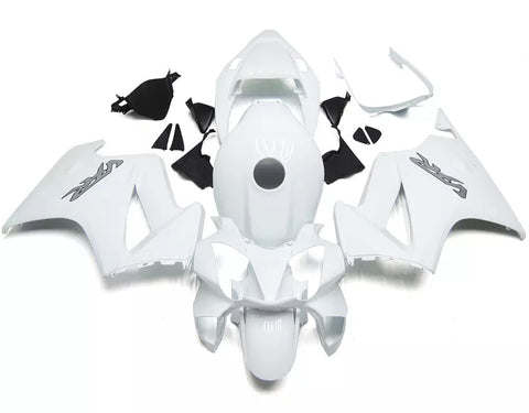 White 2002-2013 Honda VFR800 Fairings