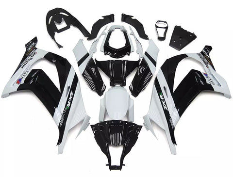 White & Black 2011-2015 Kawasaki ZX-10R Fairings