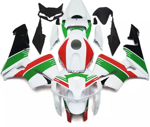 White, Green & Red 2005-2006 Honda CBR600RR Fairings