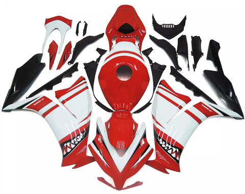 White & Red 2012-2016 Honda CBR1000RR Fairings