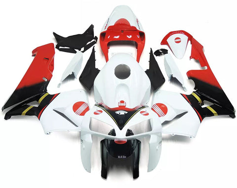 White, Red & Black 2005-2006 Honda CBR600RR Fairings