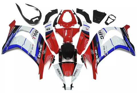 White, Red & Blue 2011-2015 Kawasaki ZX-10R Fairings