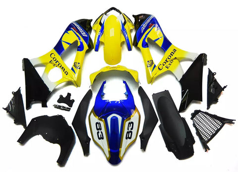 Yellow & Blue Corona 2007-2008 Suzuki GSX-R 1000 K7 Fairings
