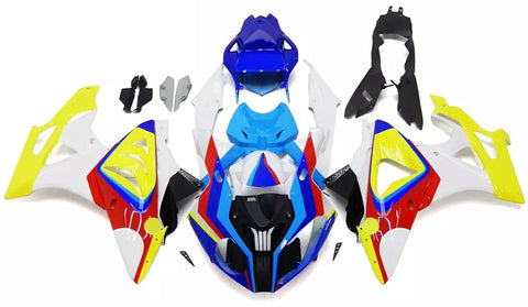 Yellow, Blue & White 2011-2014 BMW S1000RR Fairings