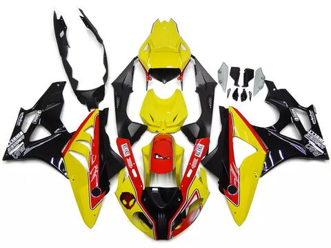 Yellow, Red & Black 2011-2014 BMW S1000RR Fairings