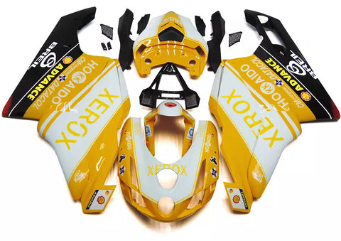 Yellow & White Xerox 2003-2004 Ducati 749 / 999 Fairings
