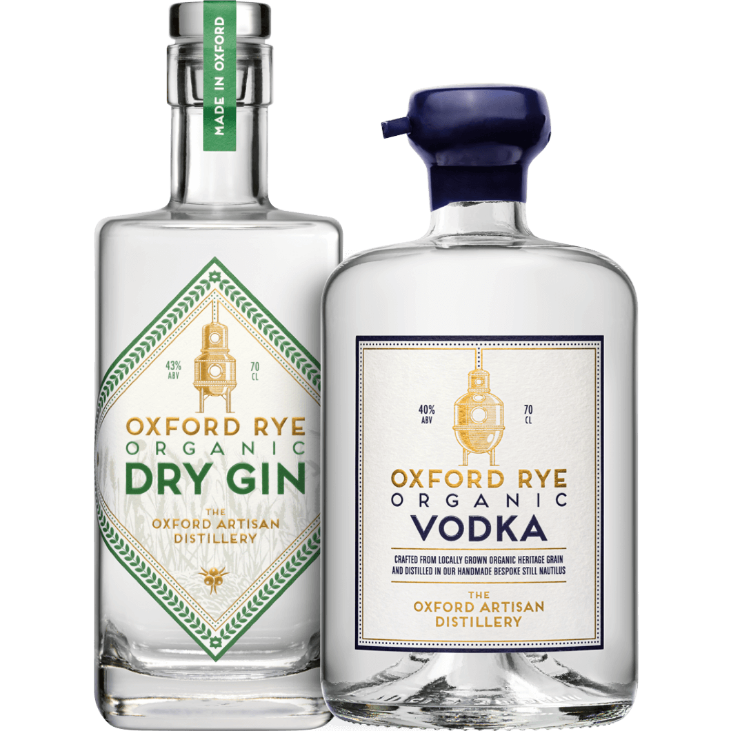 Oxford Rye Organic Dry Gin and Oxford Rye Organic Vodka