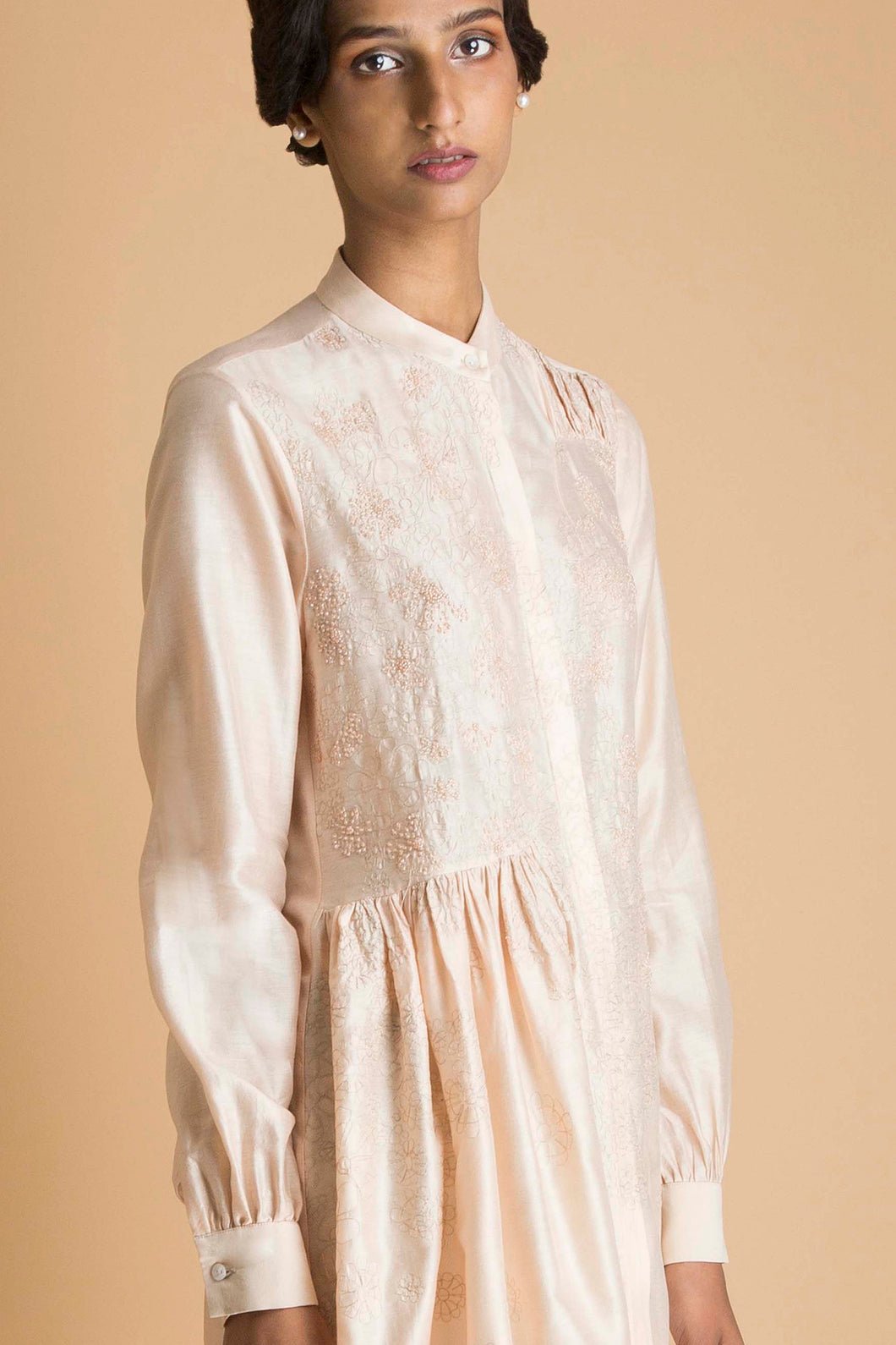 Peach Embroidered Tunic