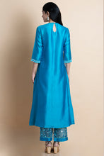 Skydive Blue Embroidered Kurta Set