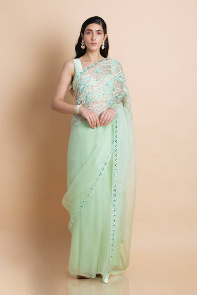 Neo Mint in Silk Organza