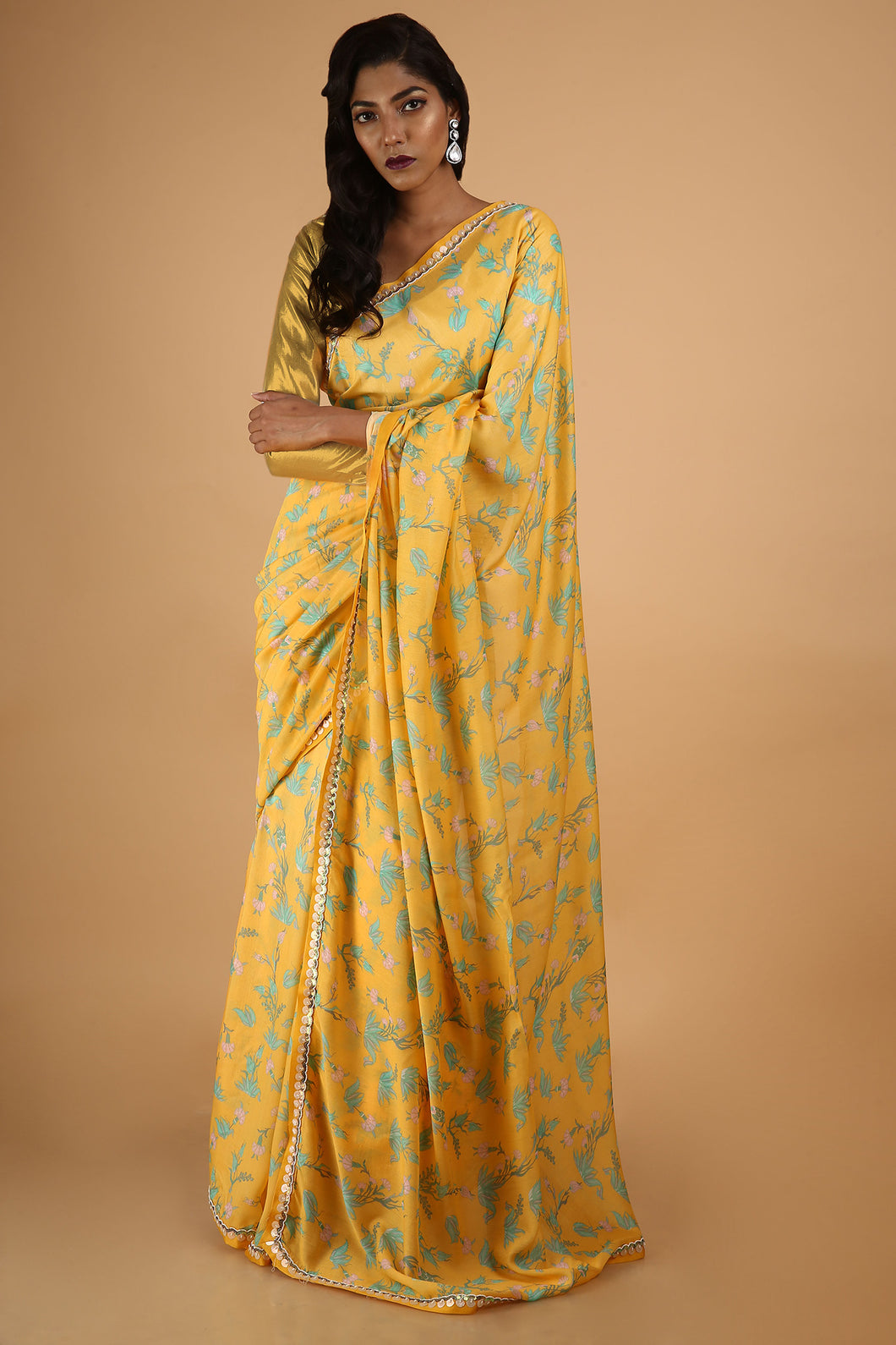 Printed Saree in Cotton Silk - sakshamneharicka.com