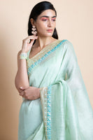 Neo Mint in Linen Silk