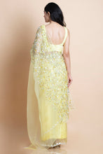 Lime Yellow in Silk Organza