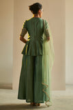 Green Sharara Set - Gulfosh