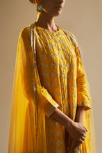 Yellow Gota Patti Kurta Set