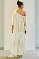 Ivory Off Shoulder Dress - SakshamNeharicka.com