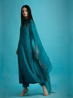 Teal Silk Kurta Set