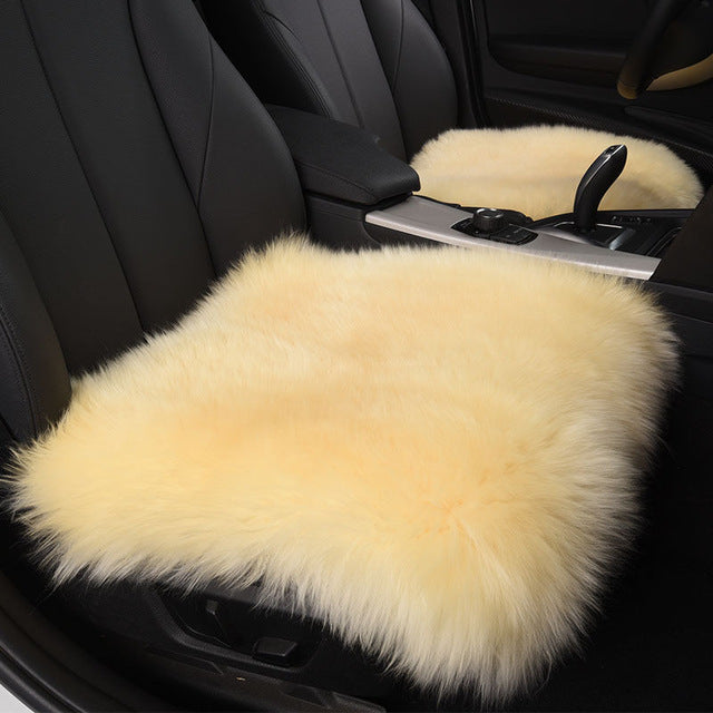 Natural Wool Seat Cover