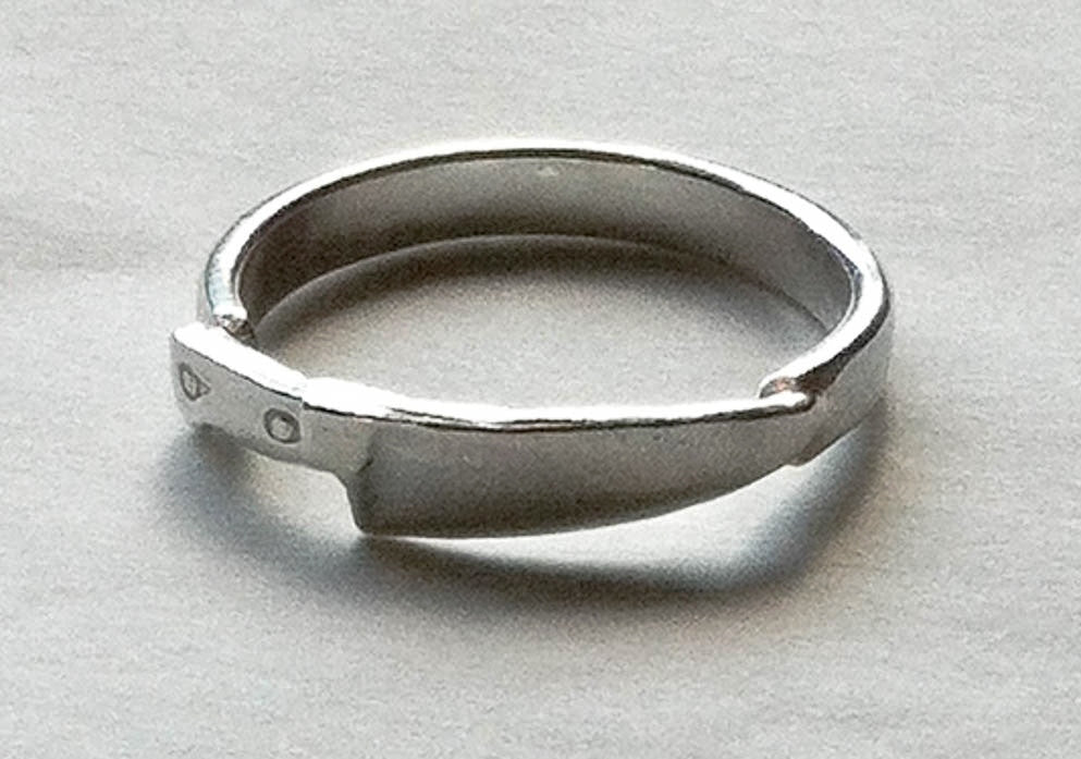 sterling silver chef knife ring