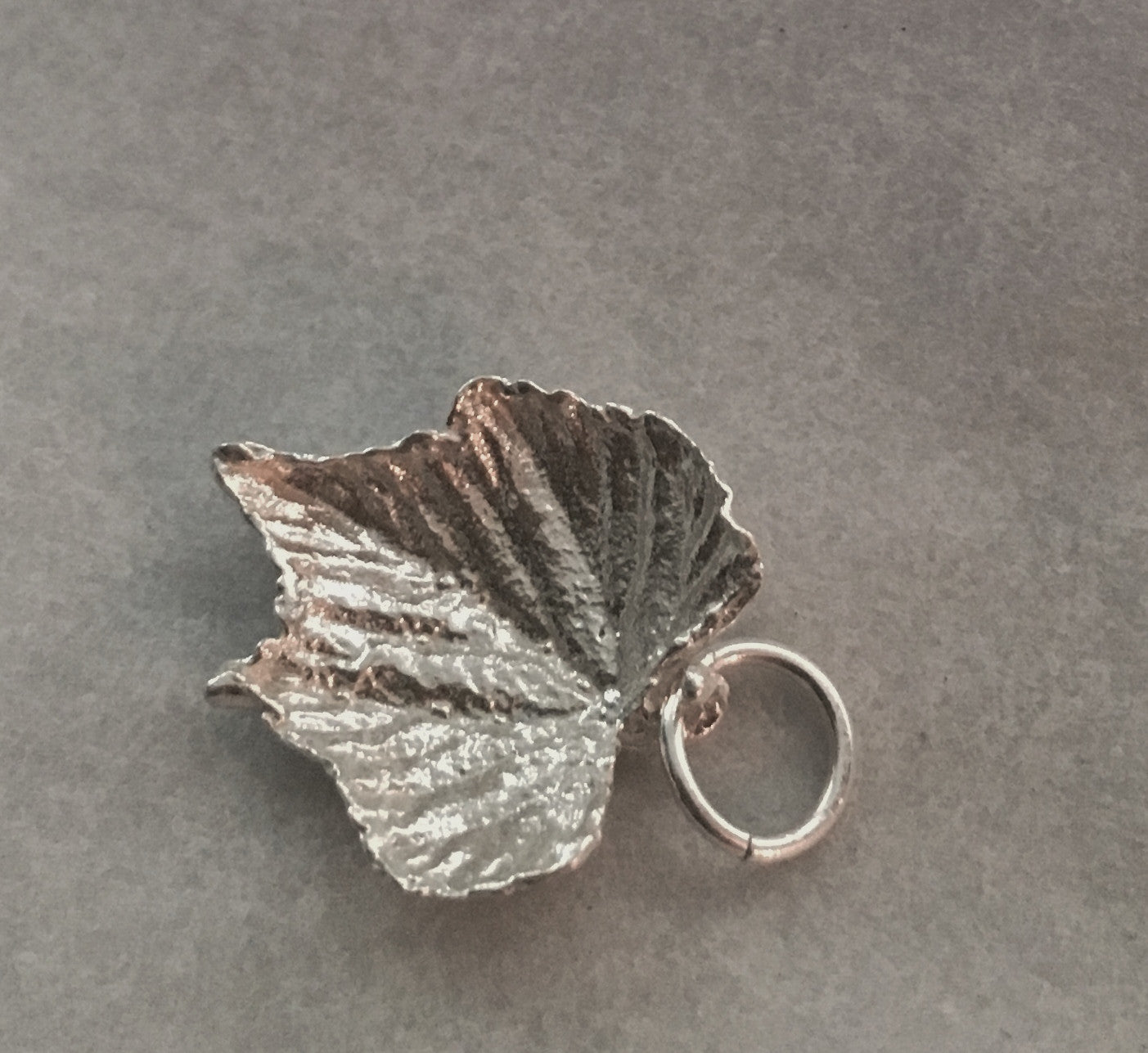 Grape Leaf Charm in Sterling Silver