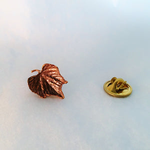 Grape Leaf Pin in Bronze