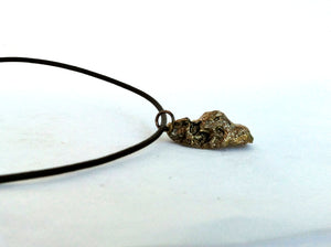 Bronze Oyster Shell Necklace on Leather Cord