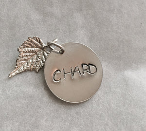 Chardonnay White Wine Charm in Sterling Silver