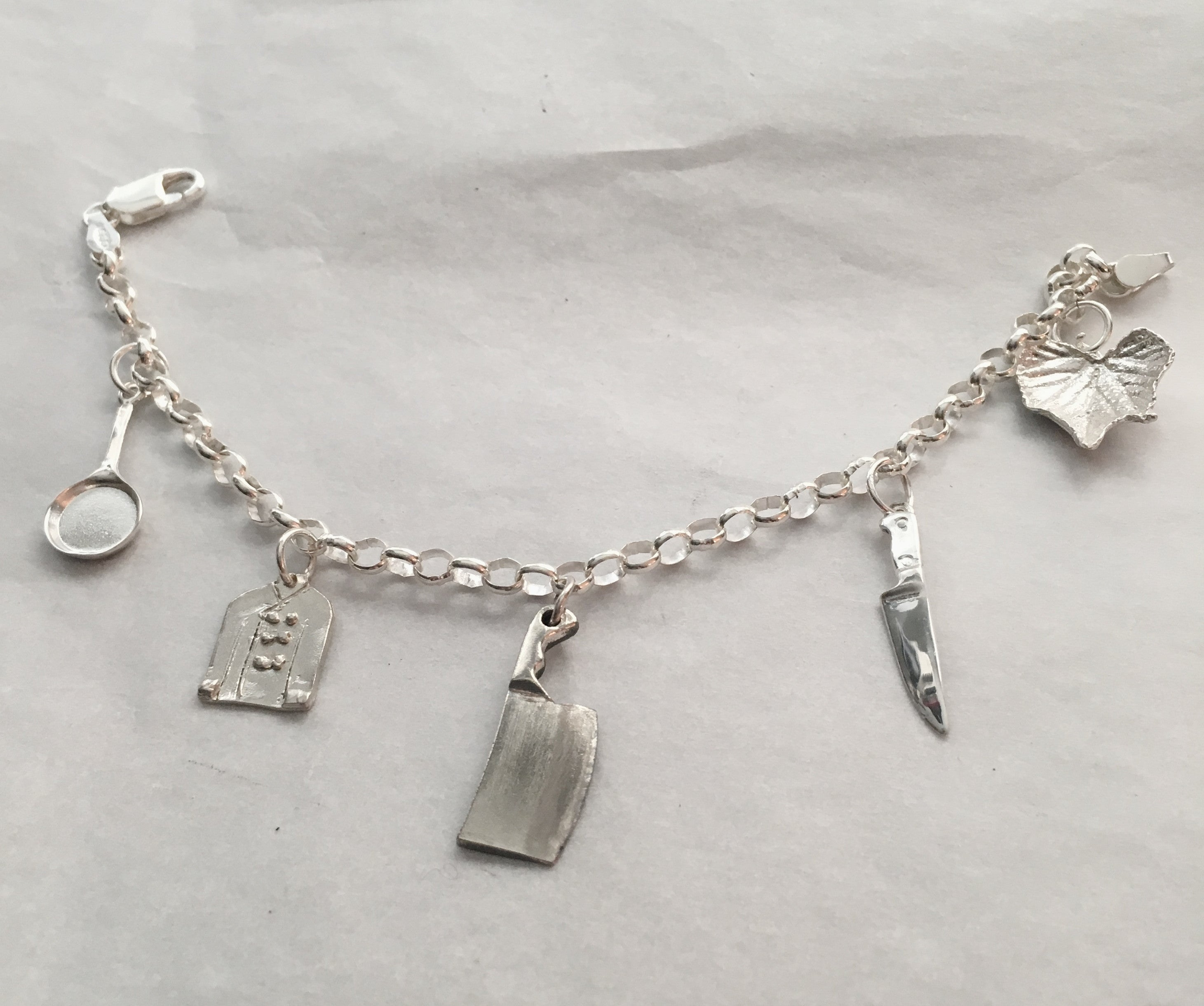 Chef Charm Bracelet in Sterling Silver