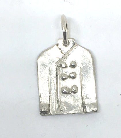 Chef Jacket Charm in Sterling Silver