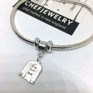 Sterling Chef Jacket Charm Bracelet