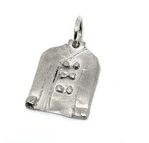 Chef Jacket Pin or Tie Tack in Sterling Silver