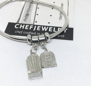 Chef Charm Bracelet with Chef Hat and Chef Coat